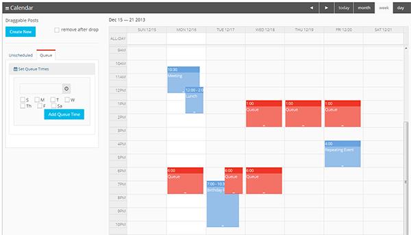 queue calendar