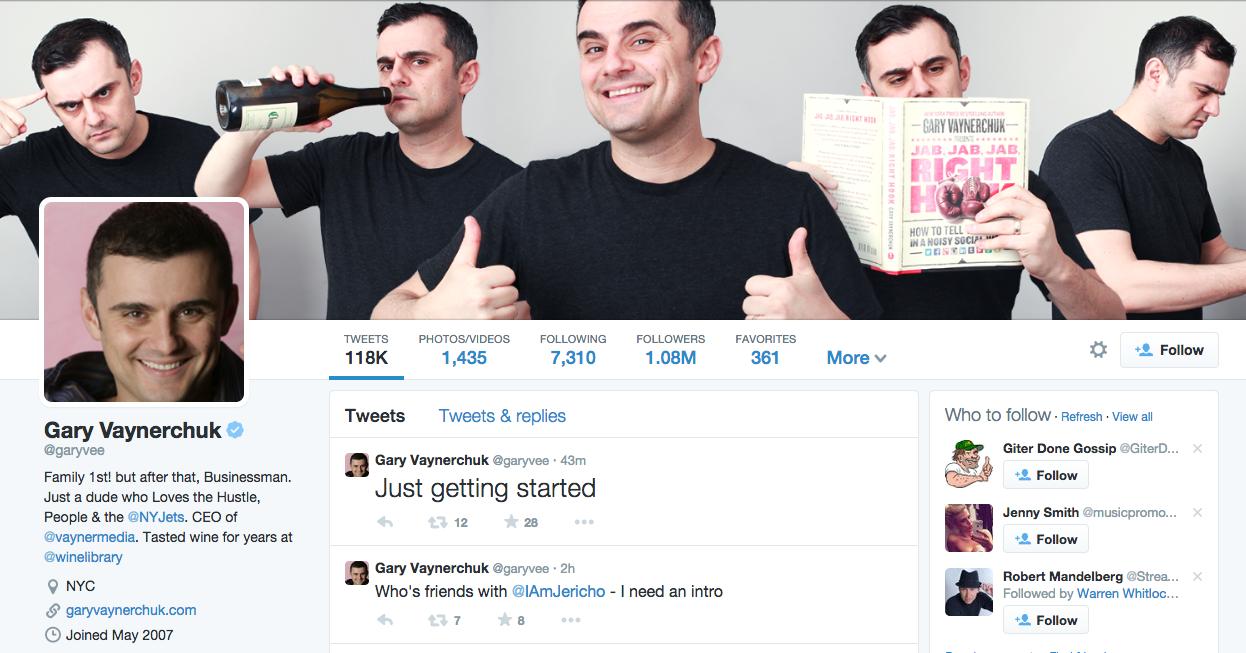 gary vaynerchuk Twitter bio