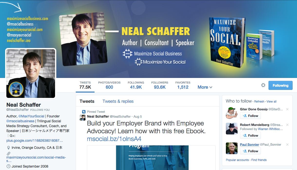 neal schaffer twitter bio