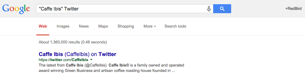 caffe ibis google search