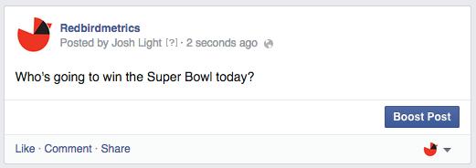 ask for predictions facebook status update
