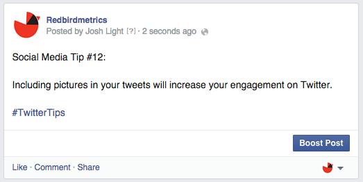 social media tip status update