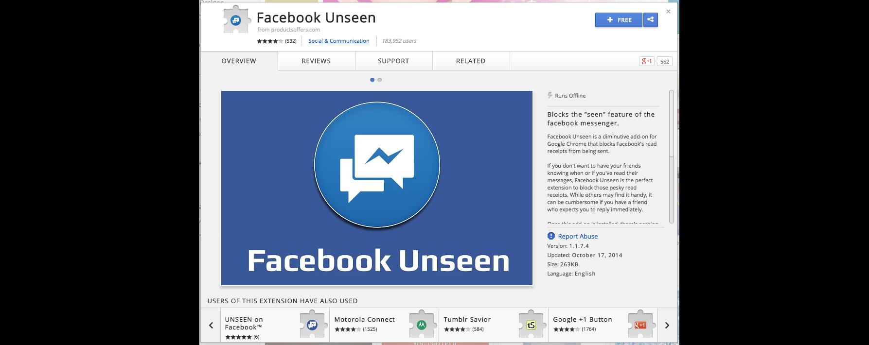 facebook unseen chrome extension