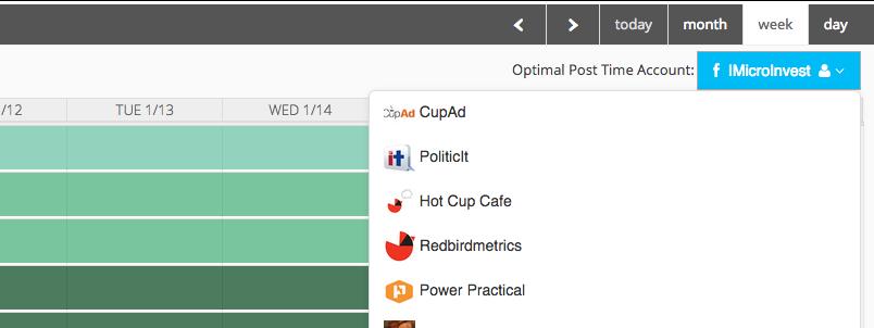 optimal times content calendar