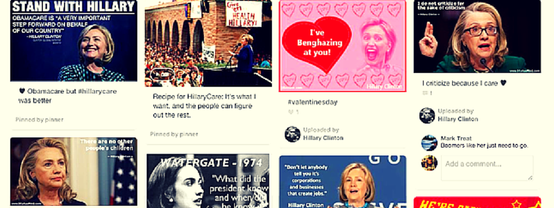 hillary clinton pinterest board