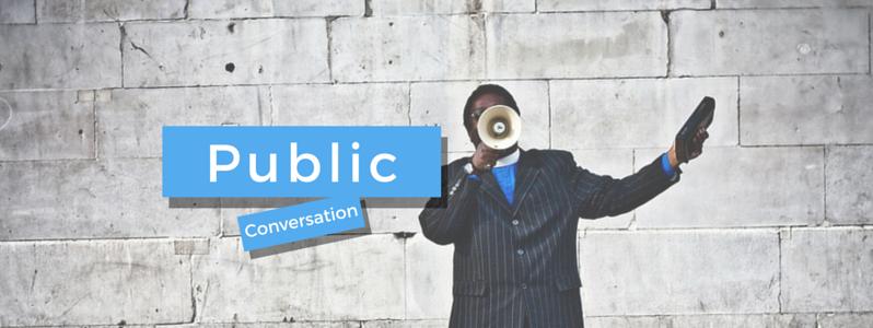twitter is a public conversation